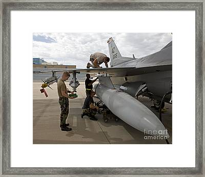 Maintenance Crew Works On Replacing Framed Print by HIGH-G Productions