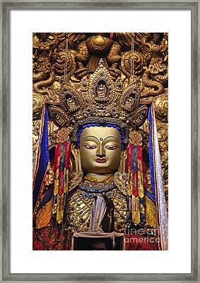 Maitreya Statue - Jokhang Temple Tibet Framed Print by Craig Lovell