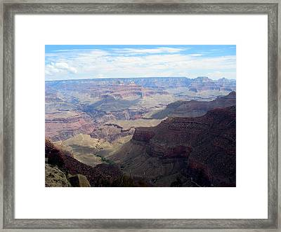 Majestic Grand Canyon Framed Print by Mitch Hino