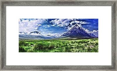 Majestic Highlands Framed Print by Wendy White