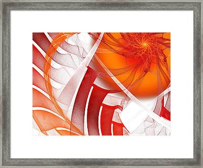 Majestic Motion White Framed Print by Andee Design
