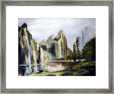 Majestic Mountains Framed Print by Phil Burton