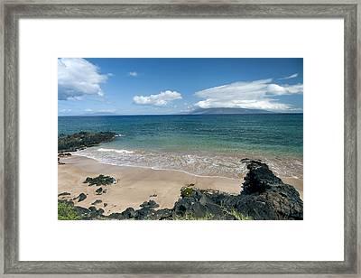 Makena Beach Resort Framed Print by Peter French
