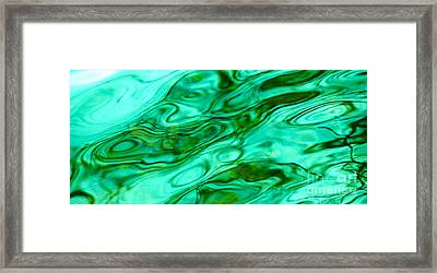 Malachite Reflections Framed Print by Cindy Lee Longhini