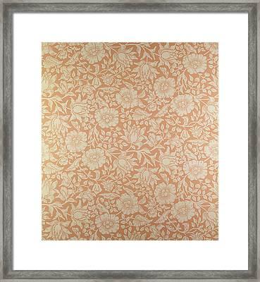 Mallow Wallpaper Design Framed Print by William Morris