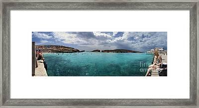 Malta Mediterranean Beach Framed Print by Guy Viner