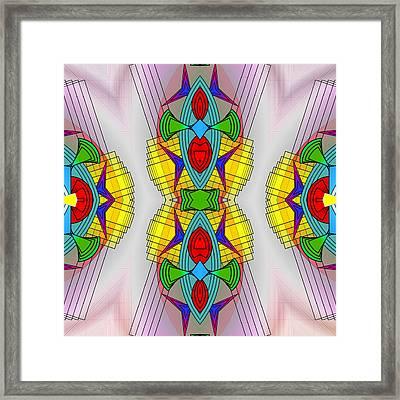 Mandala Mystery Framed Print by Mario Carini