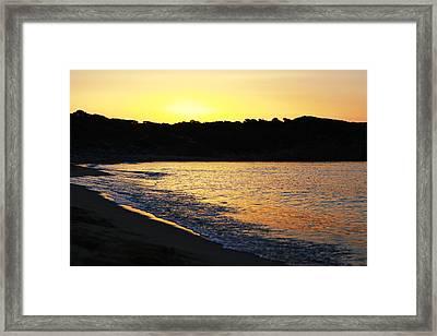 Mandraki Elias Beach Sunset Skiathos Framed Print by Nick Karvounis