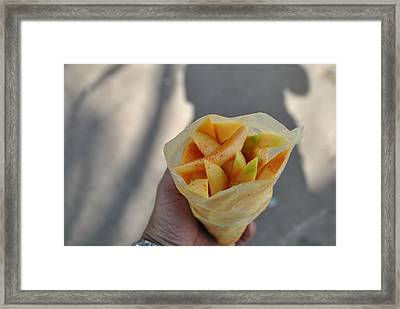 Mango Mix Framed Print by Nimmi Solomon