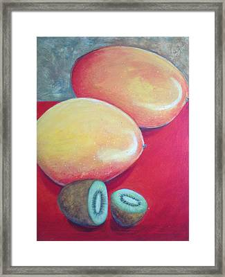 Mangos And Kiwi Framed Print by Anne Marie Smith