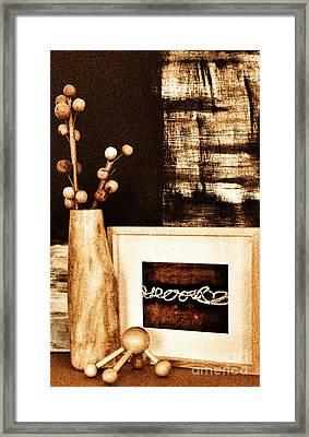 Mangowood Vase In Decor Framed Print by Marsha Heiken