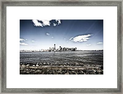 Manhattan Framed Print by Leslie Leda