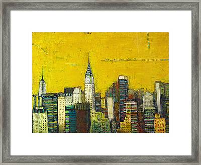 Manhattan With Chrysler And Empie Framed Print by Habib Ayat