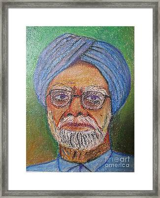 Manmohan Singh Framed Print by Nedunseralathan R