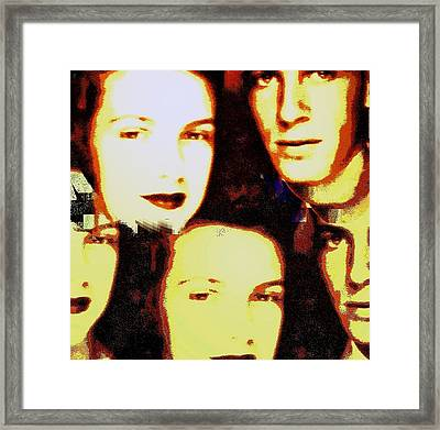 Many Faces Of Betty And Allen Framed Print by Marian Hebert