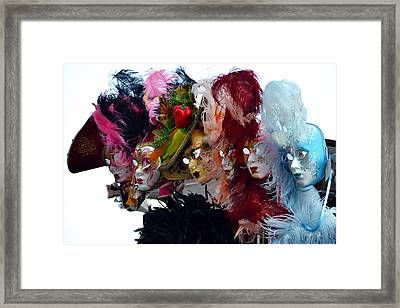 Many Faces Of Venice. Framed Print by Terence Davis
