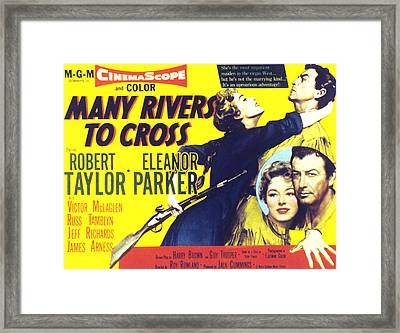 Many Rivers To Cross, Eleanor Parker Framed Print by Everett