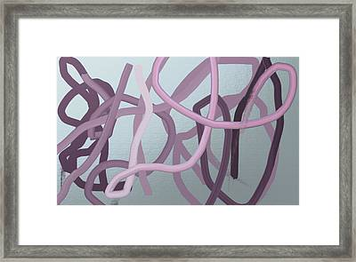 Many Strands -- One Knot Framed Print by Naomi Susan Schwartz Jacobs