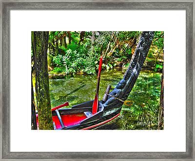 Maori Canoe Framed Print by Joanne Kocwin