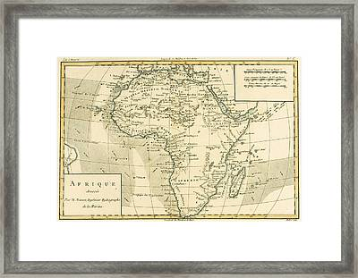 Map Of Africa Framed Print by Guillaume Raynal