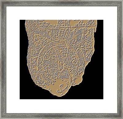 Map Of Mesopotamia Framed Print by Sheila Terry