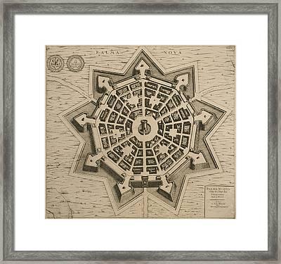 Map Of Palmanova Framed Print by French School