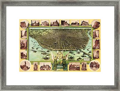 Map Of Saint Louis Framed Print by Pg Reproductions