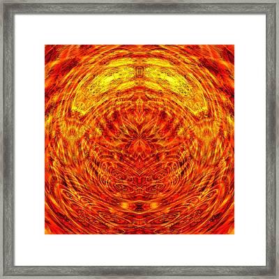 Maple Sunset Mandala Framed Print by Richard Jones