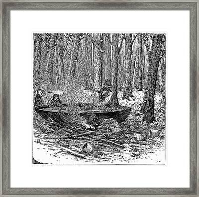 Maple Syrup, 1877 Framed Print by Granger