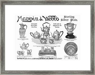 Mappin & Webbs, 1892 Framed Print by Granger