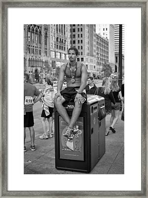 Marathon Man Framed Print by Michael Avory