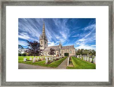 Marble Church Framed Print by Adrian Evans