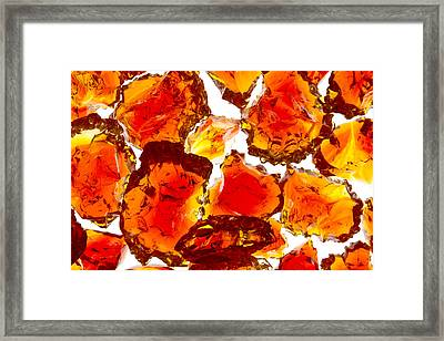 Marble Red Crackle Broken 1 B Framed Print by John Brueske