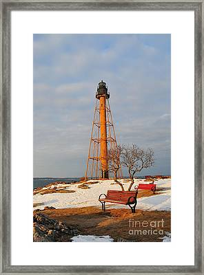 Marblehead Light Framed Print by Catherine Reusch  Daley