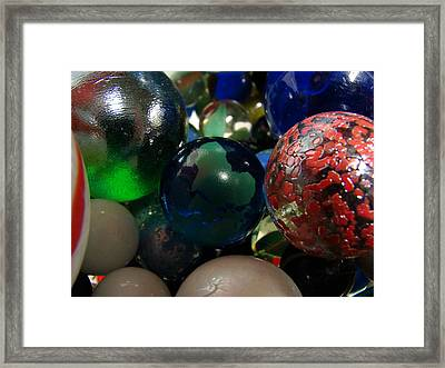 Marbles Around The World Framed Print by K Walker