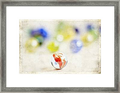 Marbles Framed Print by Darren Fisher