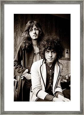 Marc Bolan T Rex 1969 Sepia Framed Print by Chris Walter
