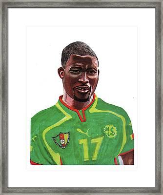 Marc Vivien Foe Framed Print by Emmanuel Baliyanga