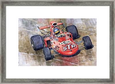 March 711 Ford Ronnie Peterson Gp Italia 1971 Framed Print by Yuriy  Shevchuk