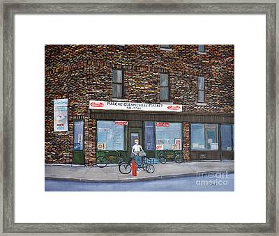 Marche Quenneville Pointe St. Charles Framed Print by Reb Frost