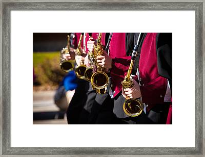 Marching Band Saxophones  Framed Print by James BO  Insogna