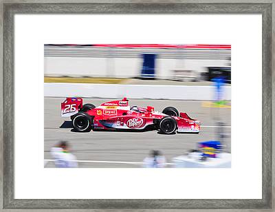 Marco Andretti At Toronto Indy Framed Print by Jarvis Chau