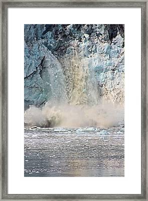 Margerie Glacier Calving Framed Print by Kristin Elmquist