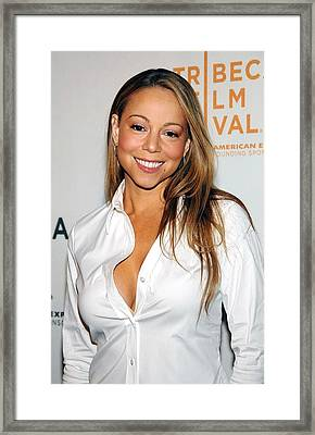 Mariah Carey At Arrivals For Tennessee Framed Print by Everett