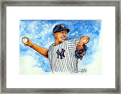 Mariano Rivera Framed Print by Dave Olsen