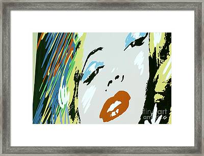 Marilyn In Hollywood Framed Print by Micah May