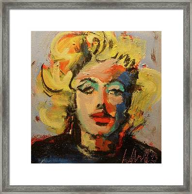 Marilyn Framed Print by Les Leffingwell
