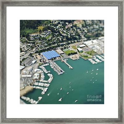 Marina And Coastal Community Framed Print by Eddy Joaquim