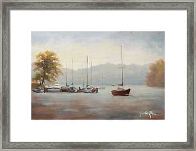 Marina Blue Framed Print by Jonathan Howe