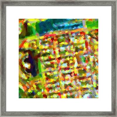 Marina District - San Francisco California Usa - Abstract - Painterly Framed Print by Wingsdomain Art and Photography
